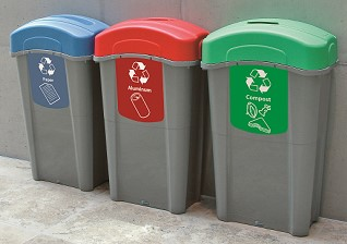 Eco Nexus 23G Indoor Recycling Containers