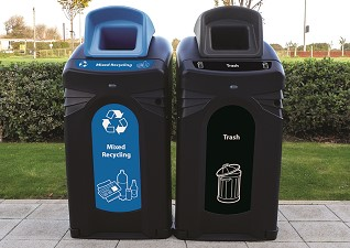 Nexus City 64G Trash & Recycling Bins