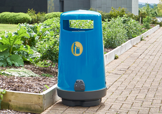 Topsy 2000 Outdoor Trash Can in Blue