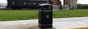 Trash cans for downtown, parks and recreational areas in