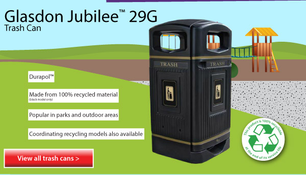 Glasdon Jubilee Trash Can
