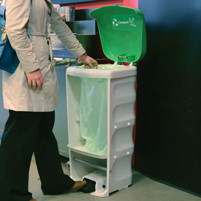 Nexus Shuttle food waste bin at exhibition center