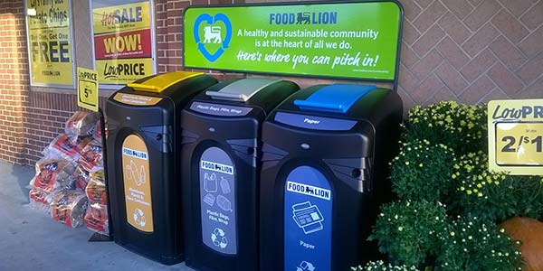Food Lion Recycling Containers