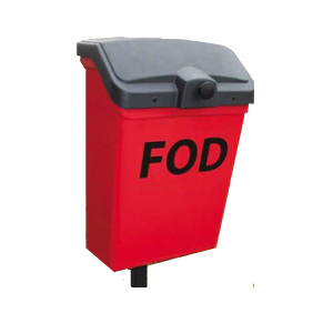 Cut out GINC Fob Bin 7G - bright red and post-mounted