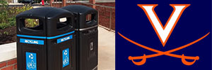 It's a Home Run for recycling at UVA, with the Glasdon Jubilee™ 29G Trash Can