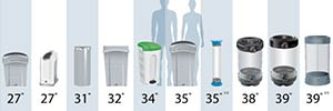 How do I choose a recycling container?