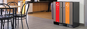 Introducing Electra™ Steel Recycling Bins
