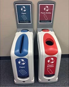 Nexus 13G recycling containers sited within Benjamin Moore offices