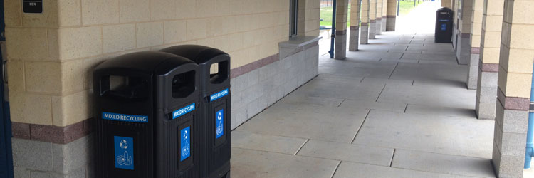 Glasdon Jubilee Recycling Bins at Pennsylvania Market Center