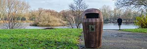 What Makes the Sherwood™ Trash Receptacle Ideal for Parks and Public Environments?