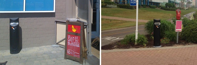 Cigarette litter prevention at Virginia Beach Oceanfront