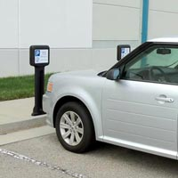 Infomaster™ Bollard Post, ideal for gas station parking lots
