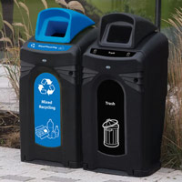 Nexus City 64G mixed recyclables recycling container, event recycling