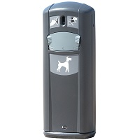 Express Retriever City Pet Waste Station in Anthracite Gray