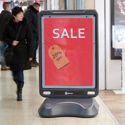 Indoor poster display stand store promotions