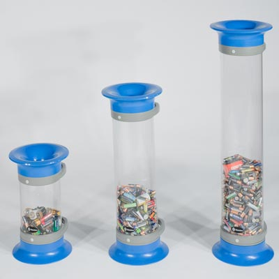 C-Thru Battery Recycling Bin