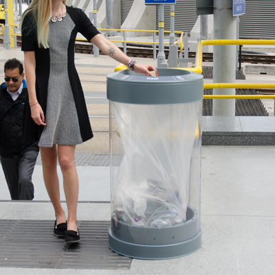 C-Thru™ 50G 50 Gallon Transparent Trash Can