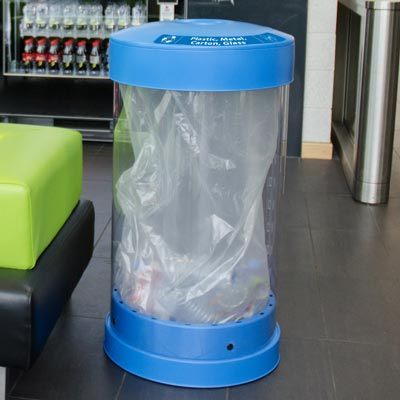 C-Thru™ 50G Plastic, Metal, Carton and Glass Recycling Bin
