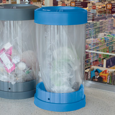 C-Thru™ 50G Plastic Bag Recycling Bin