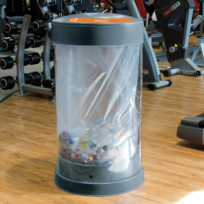 C-Thru™ 50G Plastic Bottle Recycling Bin