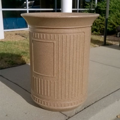 Canyon 50G Outdoor Trash Can in Sandstone Colour
