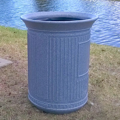Canyon 50G Outdoor Trash Can in Millstone Colour