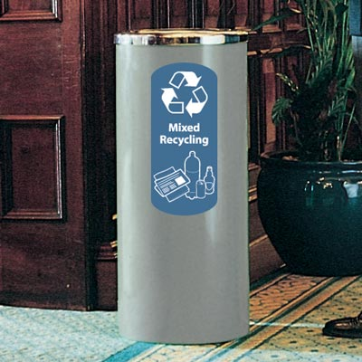 Cedar™ Mixed Recyclables Recycling Container