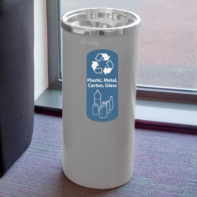 Cedar™ Plastic, Metal, Carton and Glass Recycling Container