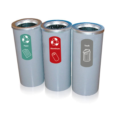 Cedar™ Indoor Recycling Bins - 15 Gallon Recycle Containers