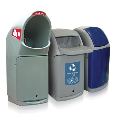 Combo™ Trash Cans and Recycling Bin Range
