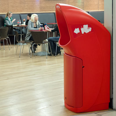 Combo Delta large aperture trash can in Red