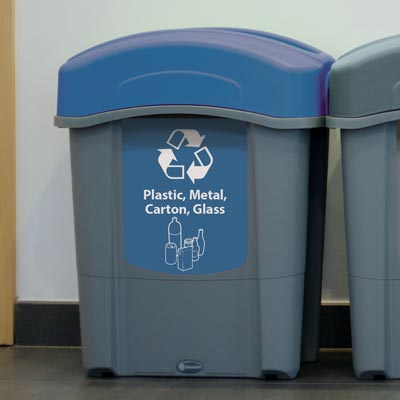 Eco Nexus® 16G Plastic, Metal, Carton and Glass Recycling Container