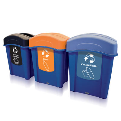 Eco Nexus® 16G Recycle Bins - 16 Gallon Recycling Containers