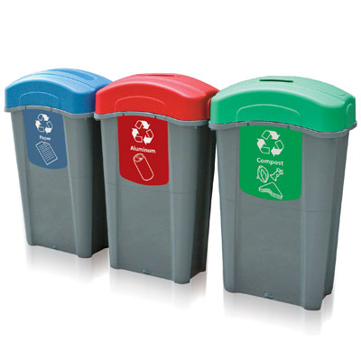 Eco Nexus® 23G Recycle Bins - 23 Gallon Recycling Containers