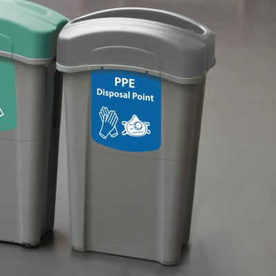 Eco Nexus® 23G PPE Waste Container 23 Gallon PPE Disposal Bin