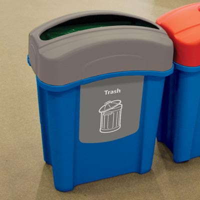 Eco Nexus® 16G Trash Recycling Containers Blue Option
