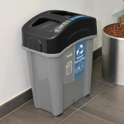 Eco Nexus® Duo 16G Trash Recycling Can