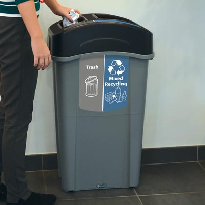 Eco Nexus® Duo 23G Trash and Recycling Can