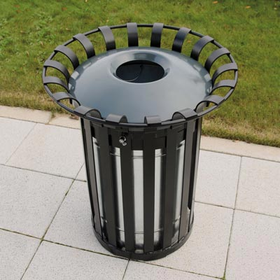 Everglade 22G trash can with optional dome top