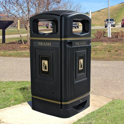 Outdoor Trash Cans | Commercial Trash Receptacles