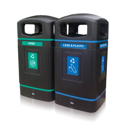 Glasdon Jubilee™ 29G Recycle Bins -  Gallon Recycling Bins