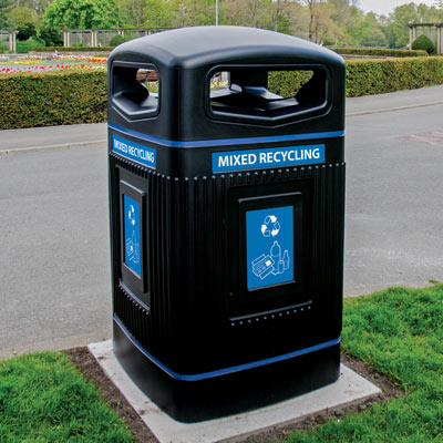 Glasdon Jubilee™ 80G Mixed Recyclables Recycling Bin