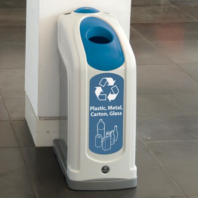 Nexus® 13G Plastic, Metal, Carton and Glass Recycling Bin