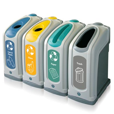 Nexus® 13G Recycle Containers - 13 Gallon Recycling Bins