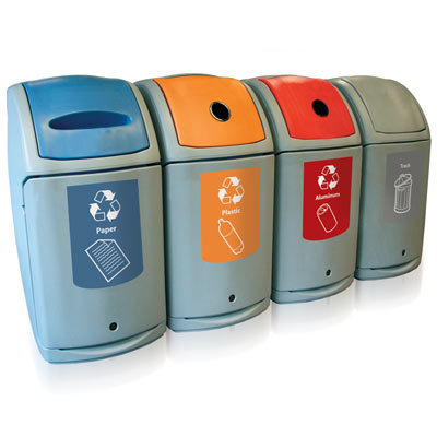 Nexus® 36G Recycle Containers - 36 Gallon Recycling Bins