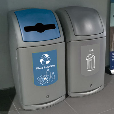 Nexus® 36G Trash and Recycling Combo