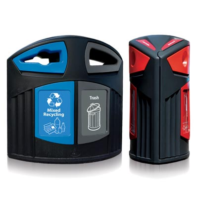 Nexus® 52G Recycling Combos - 52 Gallon Recycling Containers