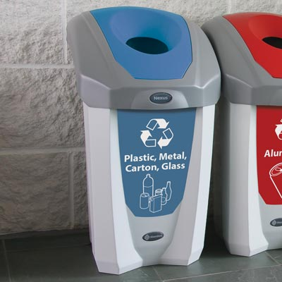 Nexus® 8G Plastic, Metal, Carton and Glass Recycling Container