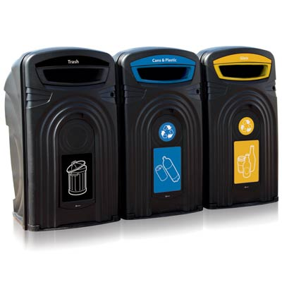Nexus® 96G Recycle Containers - 96 Gallon Recycling Bins