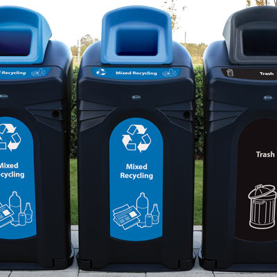 Nexus® City 64G Mixed Recyclables Recycling Bin